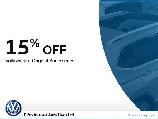 15% Off Volkswagen Original Accessories
