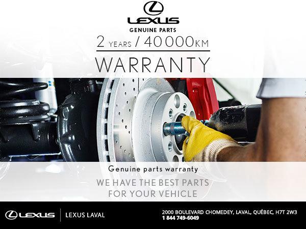 Take Advantage of Our 2 Year Warranty