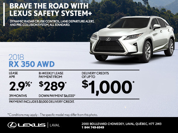 Save on the 2018 Lexus RX 350 Today!