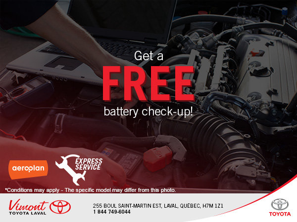 Free Battery Check-Up