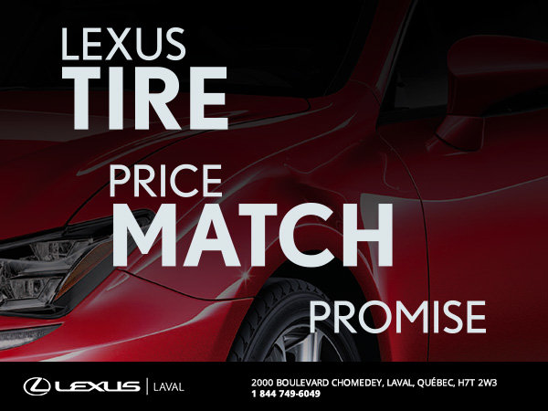 Lexus Tire Price Match Promise