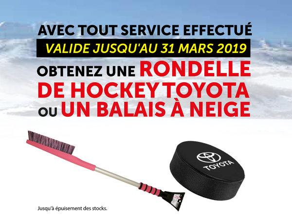Promotion service (Rondelle de hockey & Balais à neige)