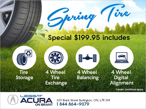 Acura on Brant's Spring Tire Special