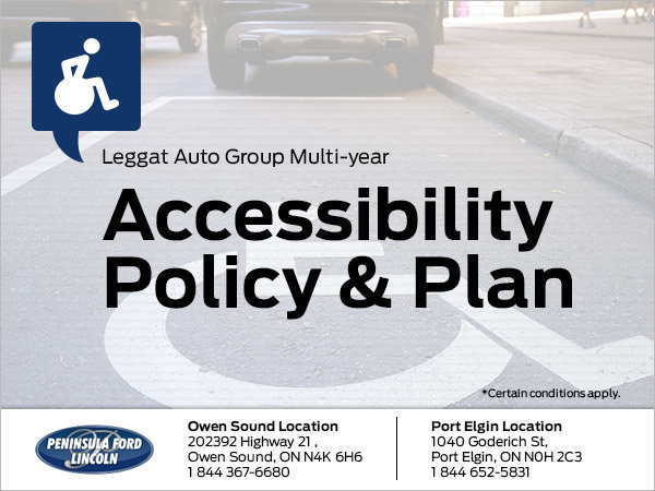 Leggat Auto Group's Multi-year Accessibility Policy & Plan