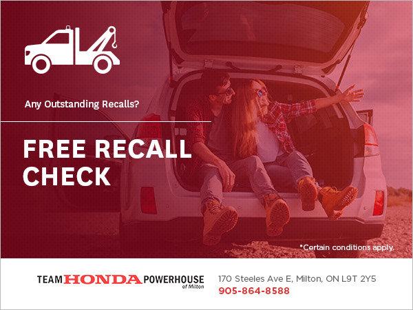 Get a Free Recall Check