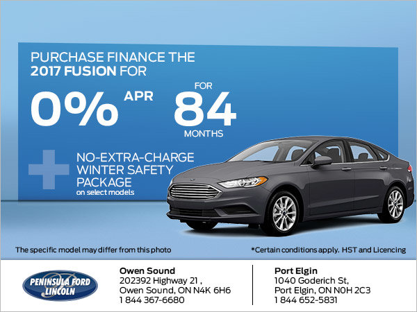 Save on the 2017 Fusion