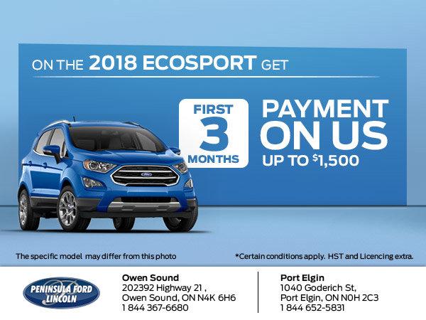 Save on the 2018 Ecosport