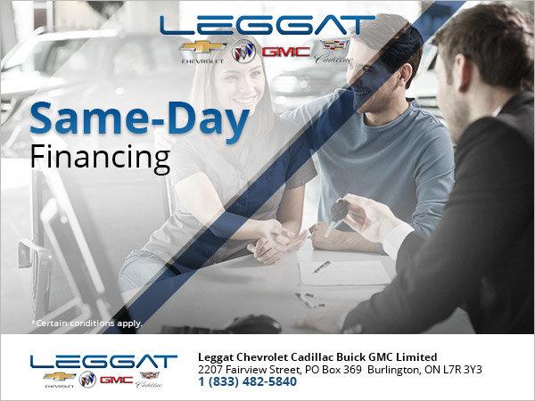 Same-Day Financing Burlington