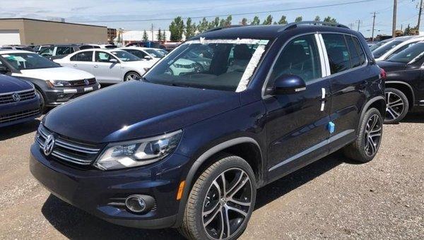 2017 Volkswagen Tiguan Highline  - Navigation -  Sunroof -  Leather Seats - $258.96 B/W