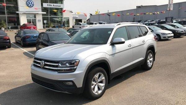 2018 Volkswagen Atlas Comfortline 3.6 FSI  - Bluetooth - $290.86 B/W