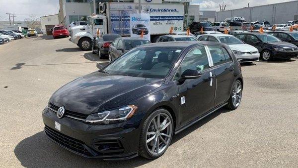 New 2019 Volkswagen Golf R 5-door DSG - $326 B/W for sale in