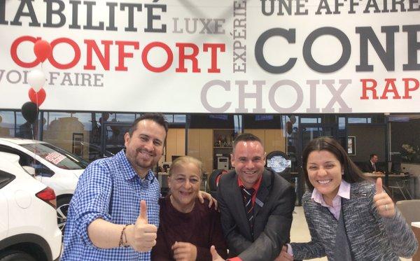 Cliente satisfaite de Laval