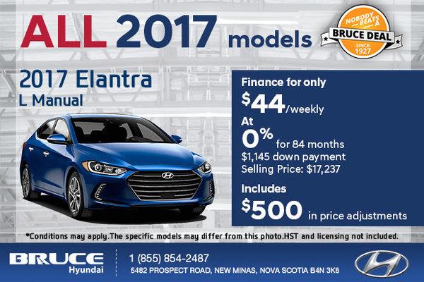 Save Big on the 2017 Hyundai Elantra L!