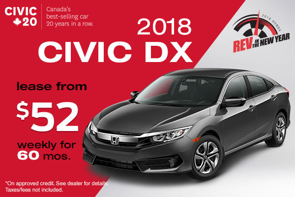 Get the 2018 Civic DX