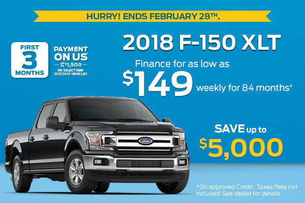Get the 2018 F-150 XLT