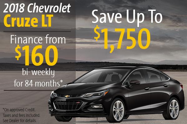 Finance the 2018 Chevrolet Cruze LT!