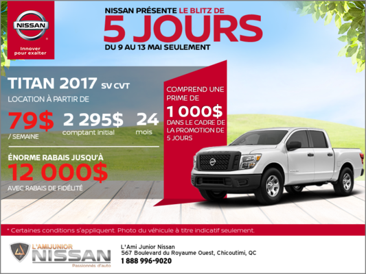 Nissan Titan 2017 | Blitz 5 jours