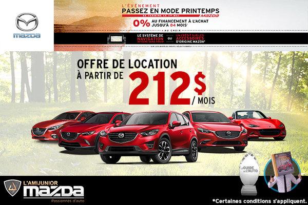 Passez en mode printemps avec Mazda
