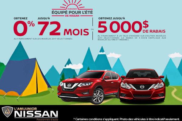 C'est l'événement équipé pour l'été de Nissan!
