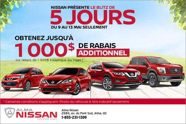 L'événement Blitz 5 jours chez Nissan