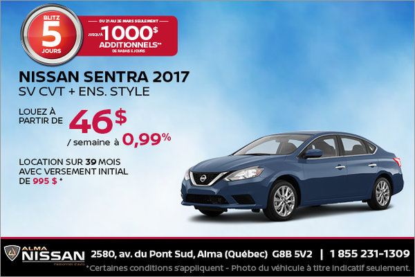 Nissan Sentra 2017 | Blitz 5 jours