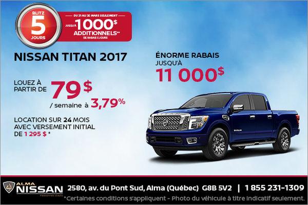 Nissan Titan 2017 en location | Blitz 5 jours