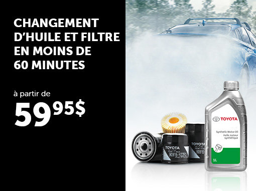 Le meilleur prix pour votre changement d'huile