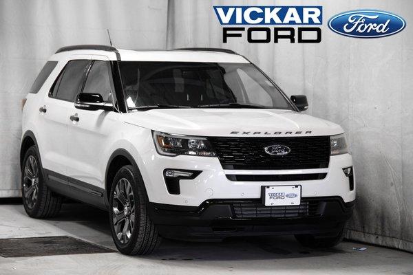 New 2018 Ford Explorer Sport White Platinum Tri-Coat (MET) for sale - $60711.75 | #18T6127 ...