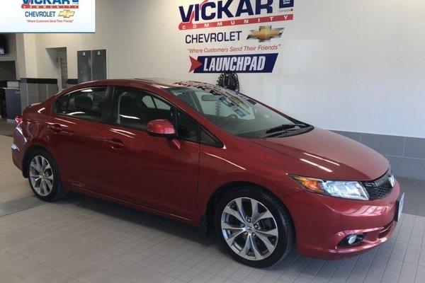 2012 Honda Civic Sedan Si  - Navigation -  Sunroof - $147.39 B/W
