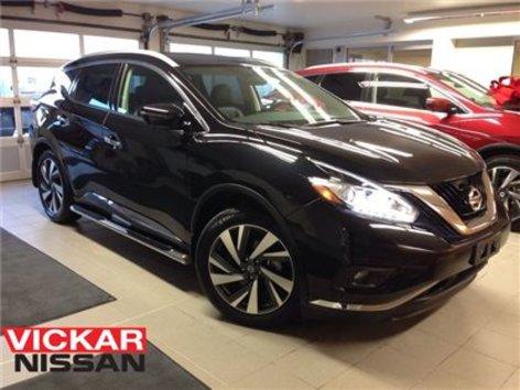 2016 Nissan Murano PLATINUM/BLACK ON BLACK/1 OWNER LOCAL TRADE!!!