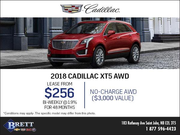 Save on the 2018 Cadillac XT5