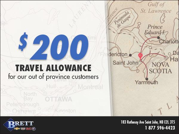 $200 Travel Allowance