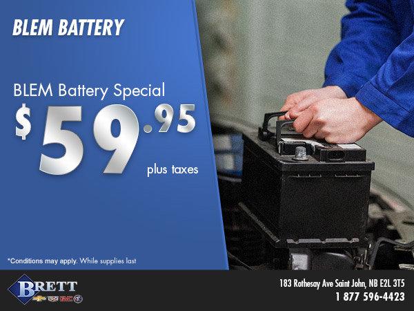 BLEM Battery Special