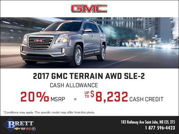 Save on the New 2017 GMC Terrain!