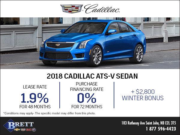 Save on the 2018 Cadillac ATS-V Sedan