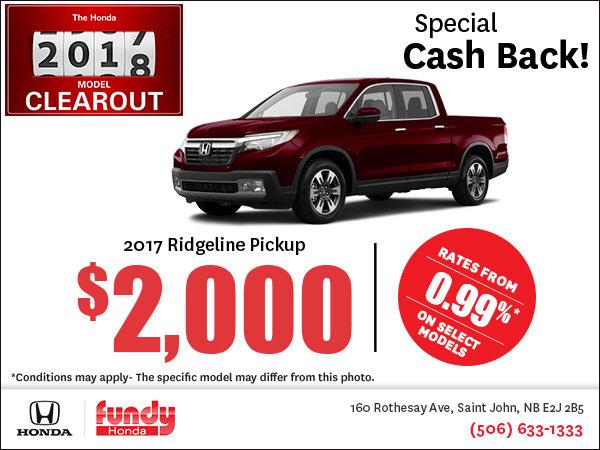 Save Big on the 2017 Ridgeline!
