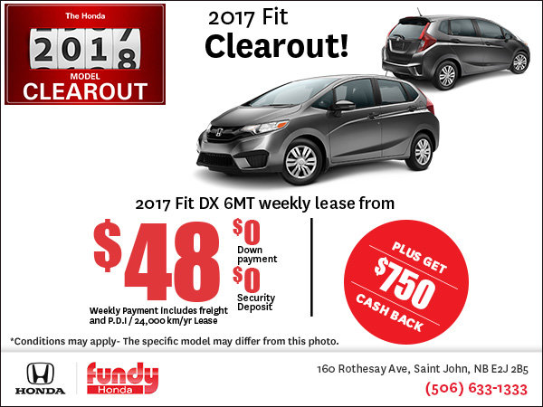 Save on the 2017 Honda Fit!