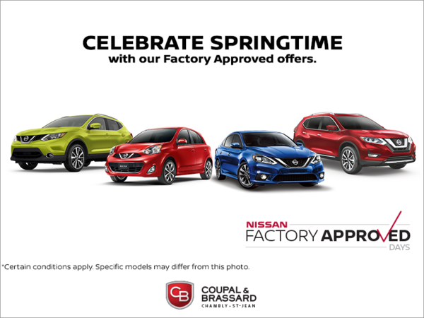 Celebrate Springtime with Our Factory Approved Offers