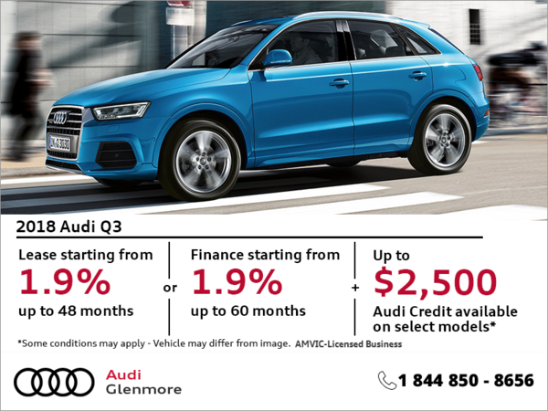 Get the 2018 Audi Q3 Today