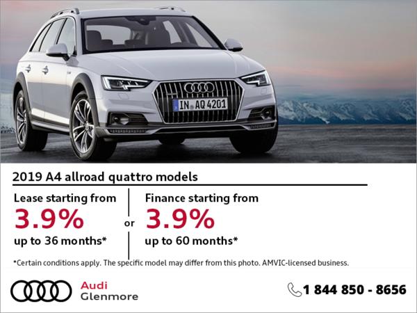 Get the 2019 Audi A4 Allroad Quattro Today!