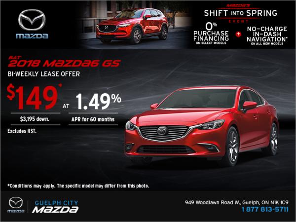 Big Savings on the 2018 Mazda6!