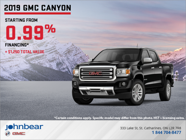 The 2019 GMC Canyon