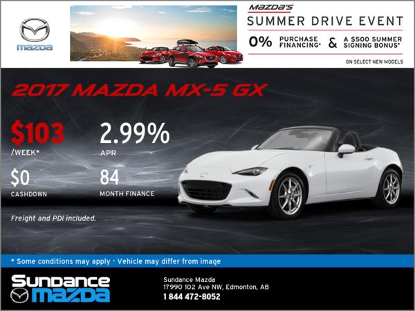 Save on the 2017 Mazda MX-5 GX