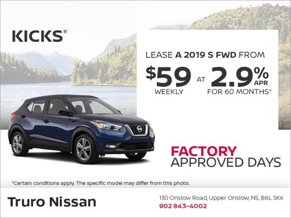 Get The 2019 Nissan Kicks Today Truro Nissan