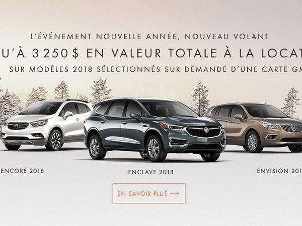 Promotion Buick janvier 2018