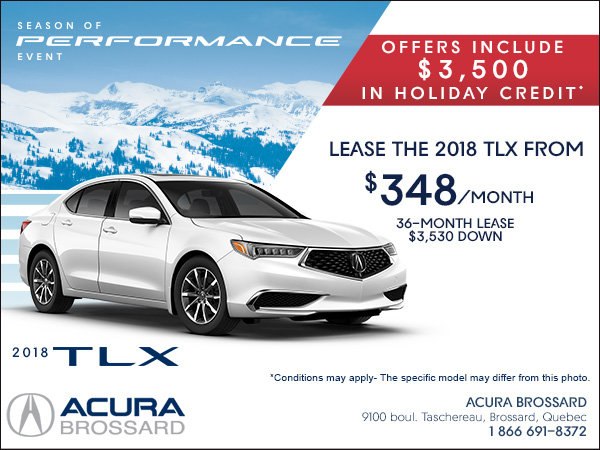 Lease the 2018 Acura TLX Today!