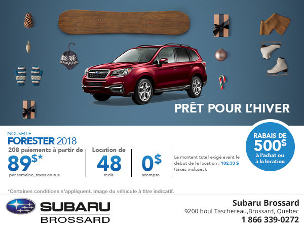 Achetez le Subaru Forester 2018 aujourd'hui!