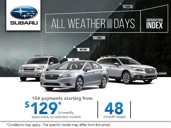 All Weather Days at Subaru!