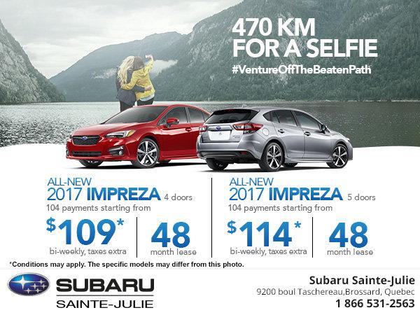 Save on the 4 and 5-Door 2017 Subaru Impreza Today!