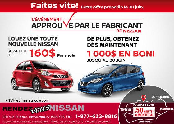 L'événement Approuvé par le fabricant de Nissan !